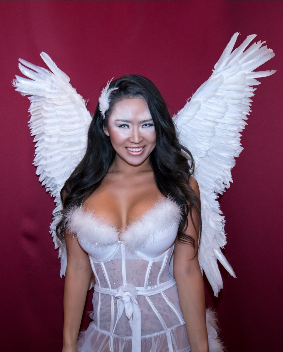 2015 Halloween Angel Costume /Makeup